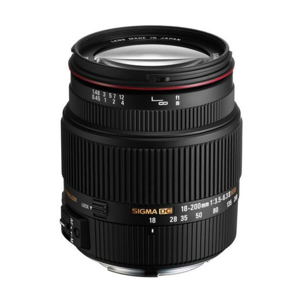 Sigma 18-200mm f/3.5-6.3 II DC OS HSM Lens for Canon