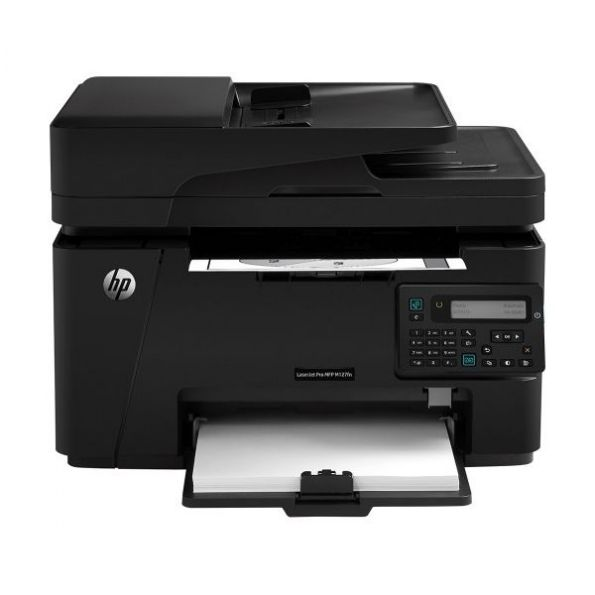 HP - LaserJet Pro MFP M127fn Black-and-White All-in-One Laser Printer