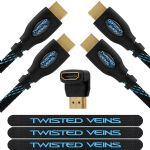 Twisted Veins Two (2) Pack of (6 ft) High Speed HDMI Cables