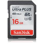 SanDisk 16 GB Ultra PLUS SDHC/SDXC Memory Card